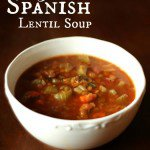 Vegetarian Spanish Lentil Soup