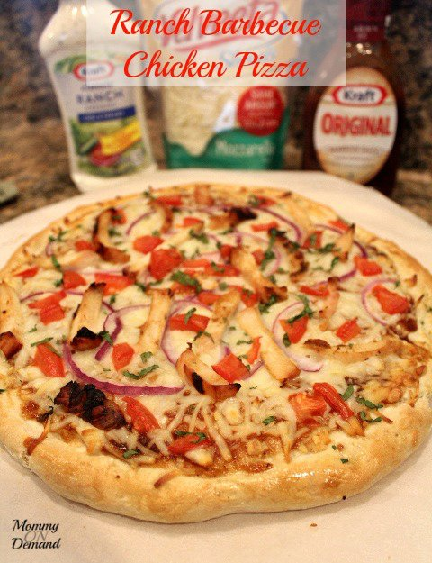 Low Budget Meals: Ranch Barbecue Chicken Pizza