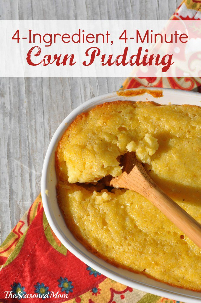 4-Ingredient 4-Minute Corn Pudding
