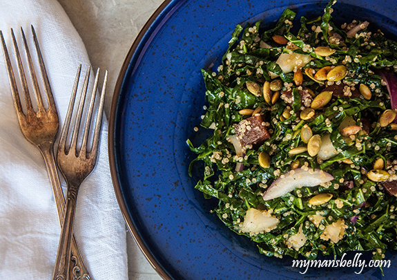 Fall Kale Salad with Quinoa