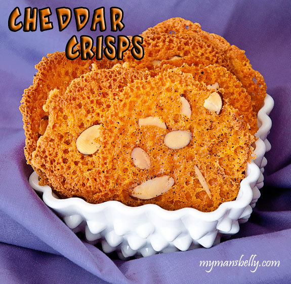 Appetizer Recipes - Almond Cheddar Crisps