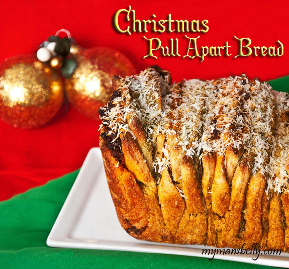 Red and Green Pull Apart Bread