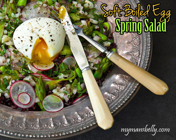 Healthy Lunch Ideas - Soft Boiled Egg Spring Salad