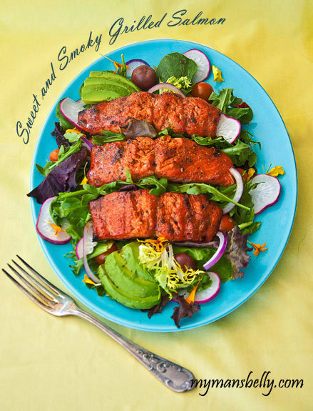 Weekend Eats - Sweet and Smoky Grilled Salmon