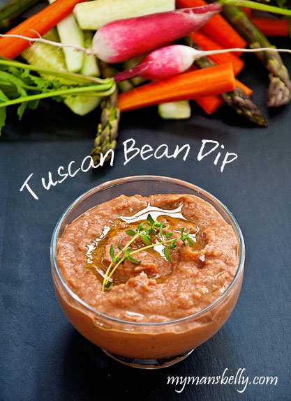 Party Food - Tangy Tuscan White Bean Dip Recipe
