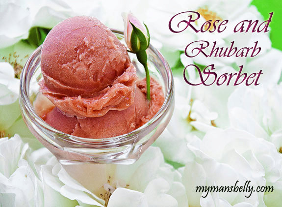 Easy Dessert Recipe for Mothers Day - Rose and Rhubarb Sorbet