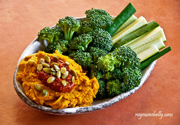 Roasted Carrot Hummus with a Spicy Kick...Or Not