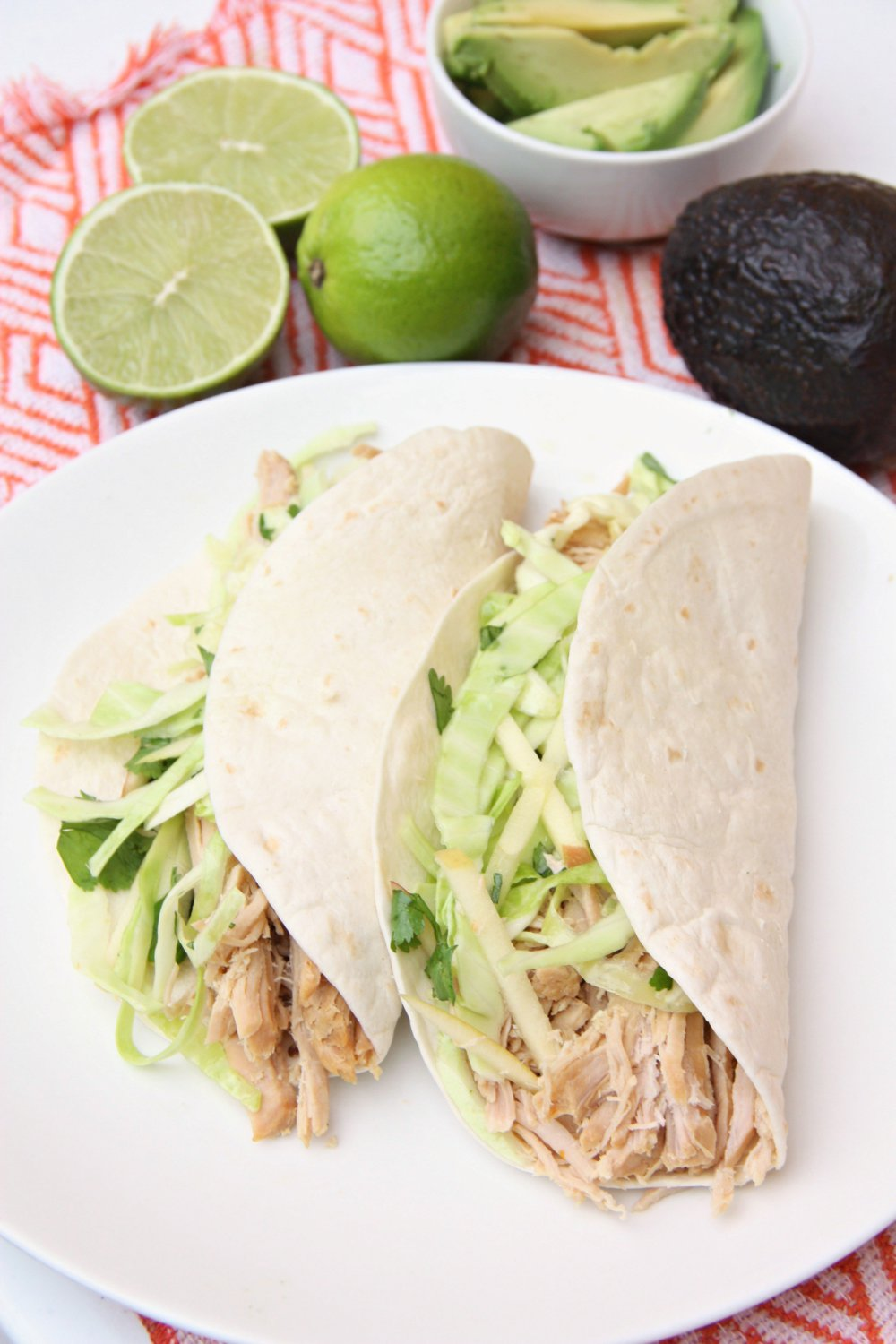 Citrus Pork Tacos with Apple Cabbage slaw