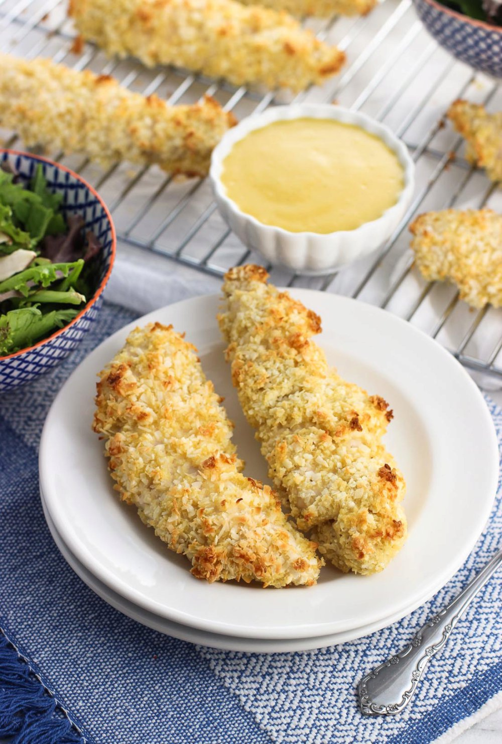 Double Dipped Baked Coconut Chicken Tenders