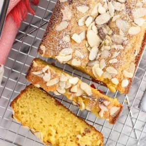 Cherry Almond Loaf Cake