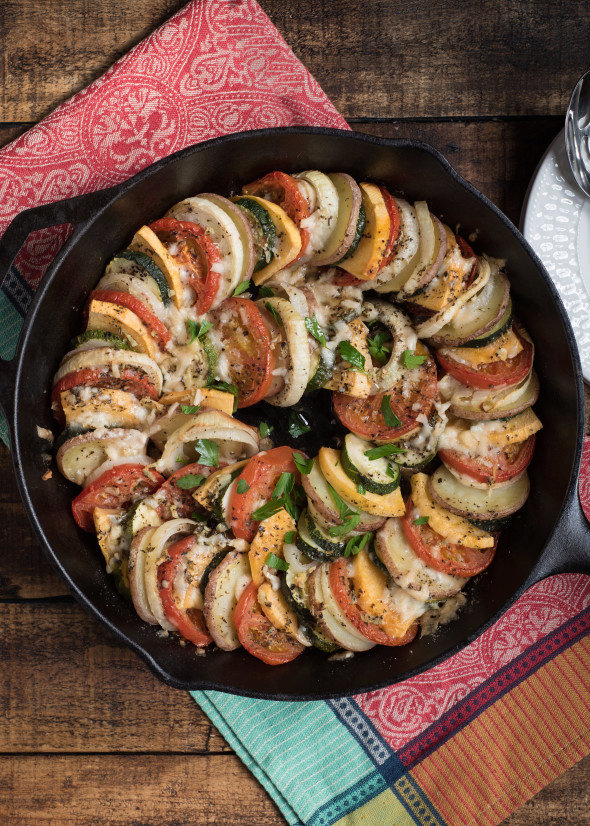 Layered Roasted Vegetables With Parmesan