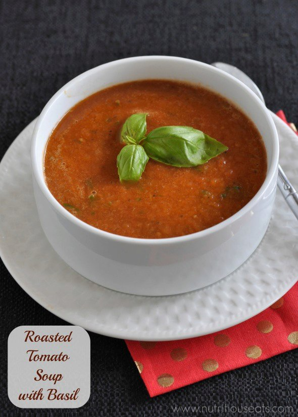 Roasted Tomato Soup with Basil