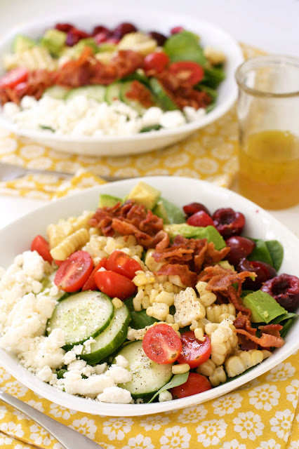 End of Summer Chopped Salad with Citrus Honey Viniagrette