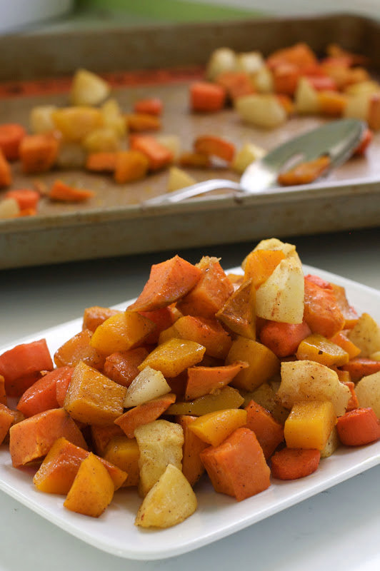 Roasted and Spiced Autumn Vegetables