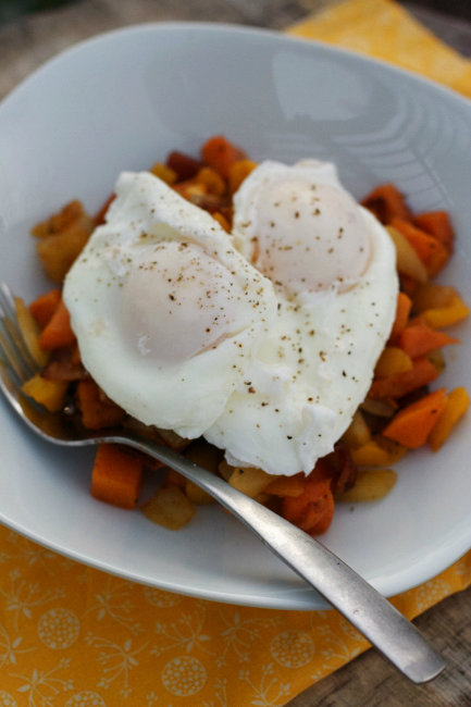 Sunrise Breakfast Hash with Poached Eggs