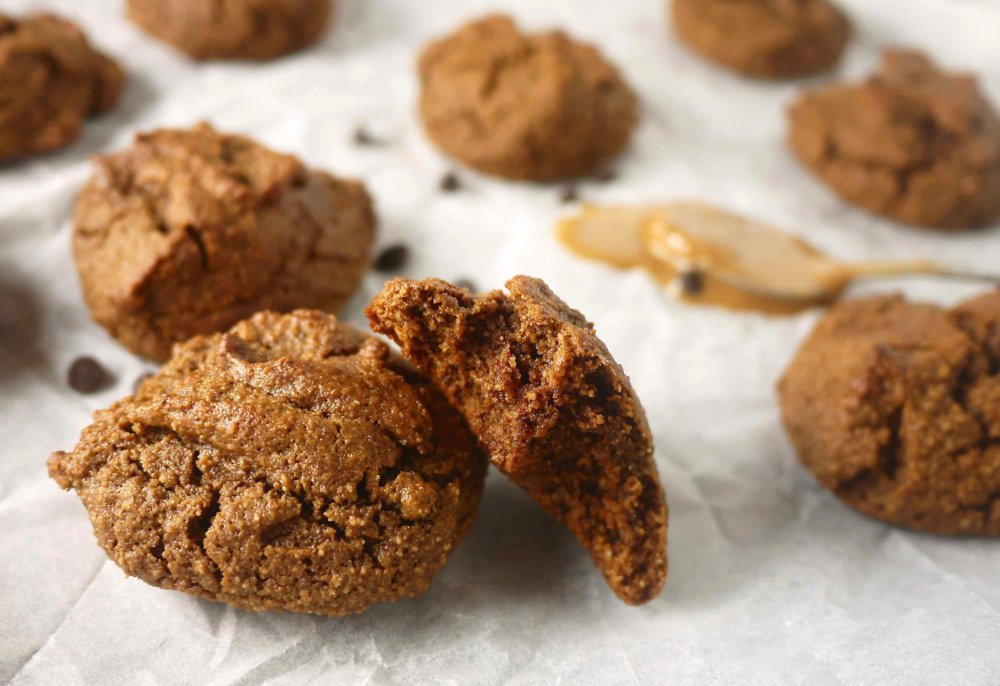 Chewy Chocolate Almond Butter Cookies (paleo, GF)