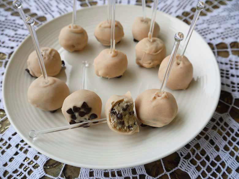 White Chocolate Covered Cookie Dough Bites