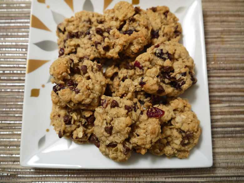 Cherry Chocolate Oatmeal Cookies- Two ways