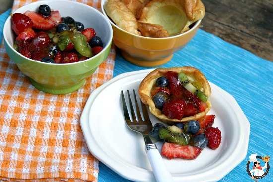 Pancake Puffs with Fruit