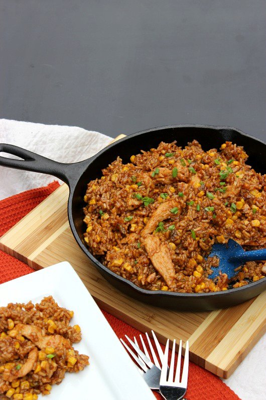 Barbecue Chicken and Rice: One Dish Dinner