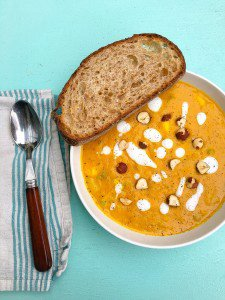 EASIEST EVER CURRIED BUTTERNUT SQUASH SOUP