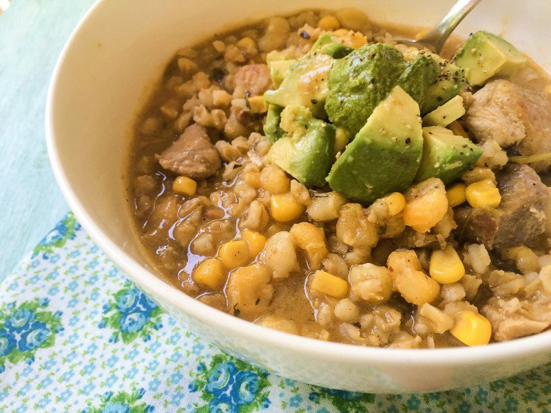SLOW COOKER GREEN CHILE PORK STEW