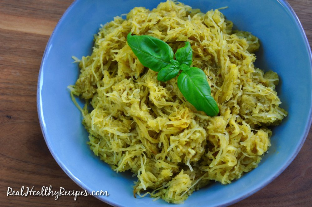 Lemon And Basil Spaghetti Squash