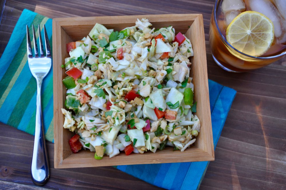 Chopped Chicken Salad With Creamy Peanut Dressing