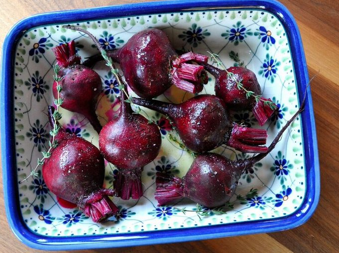 Oven Steamed Beets