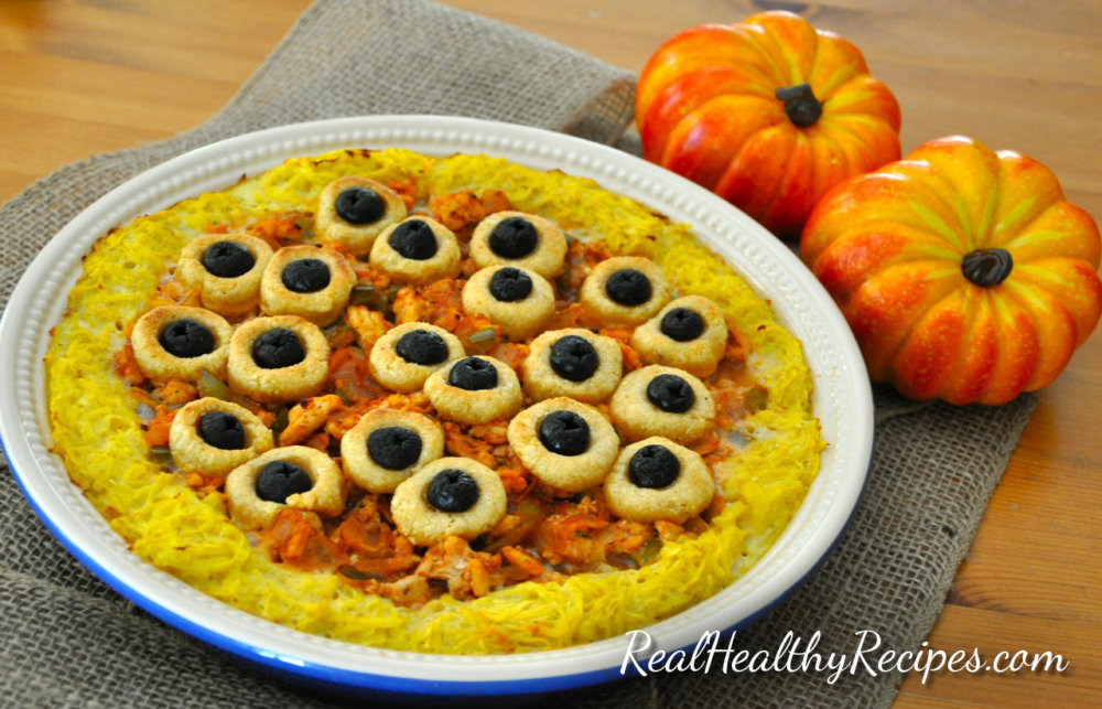 (Grain-Free) Eyeball Spaghetti Squash Pie