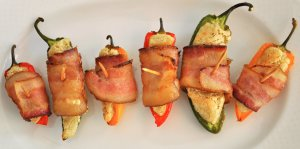 Bacon Wrapped Peppers