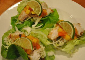 15 Minute Tropical Fish Tacos