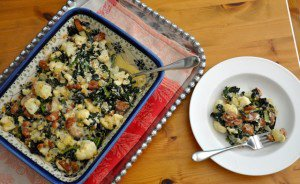 Chicken Sausage, Cauliflower and Kale Casserole