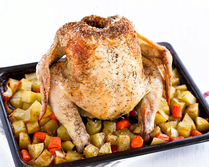 Roast Chicken with Carrots and Potatoes
