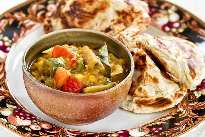 Dhal and Eggplant Curry