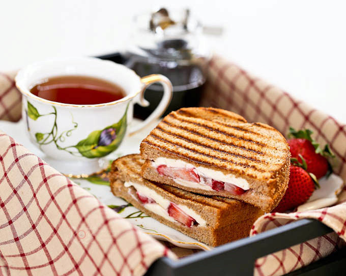 Strawberry Grilled Cheese Sandwich