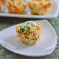 Bacon and Cheddar Potato Puffs