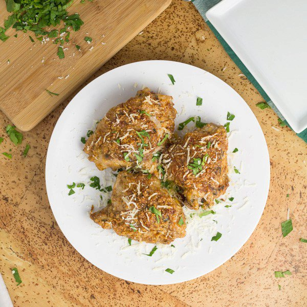 Parmesan Crusted Chicken Thighs