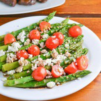 Asparagus with Tomato and Feta