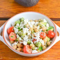 Chickpea, Tomato and Avocado Salad