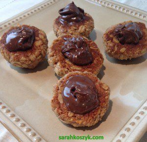 Gluten-Free Cocoa Almond Thumbprint Cookies from Sarah Sunshine