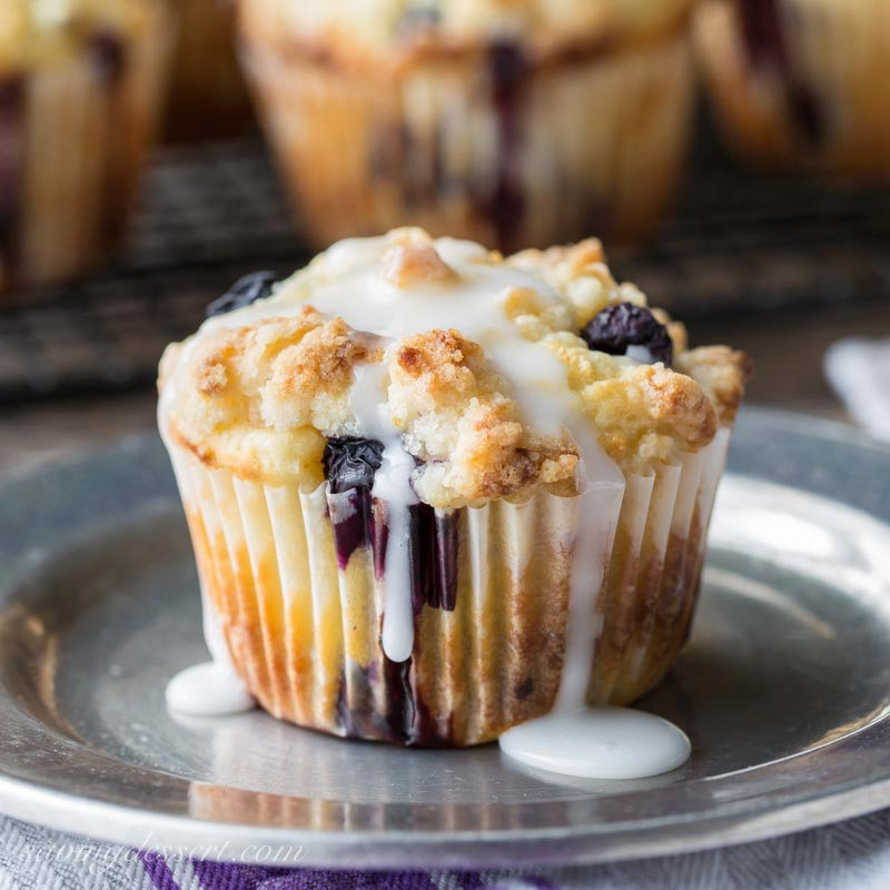 Lemon Blueberry Muffins with a Lemon Crumble Topping