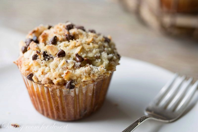 Chocolate-Chip Almond Streusel Topped Muffins