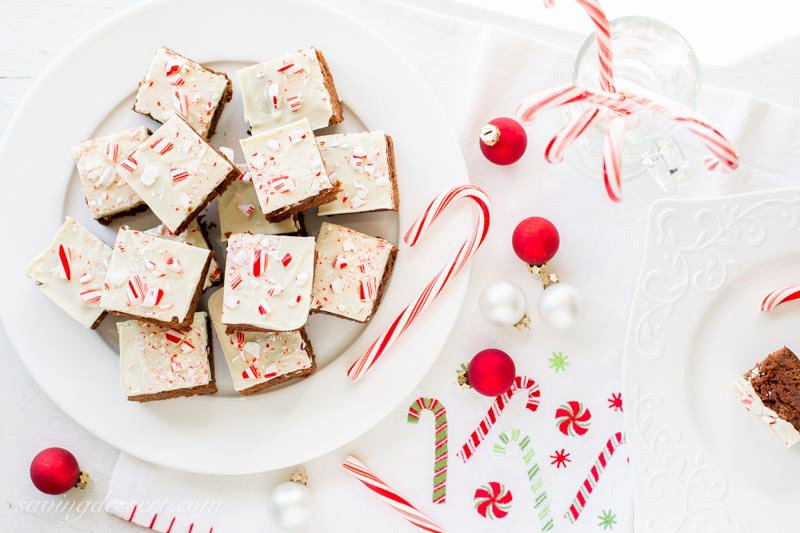 White Chocolate Peppermint Brownies