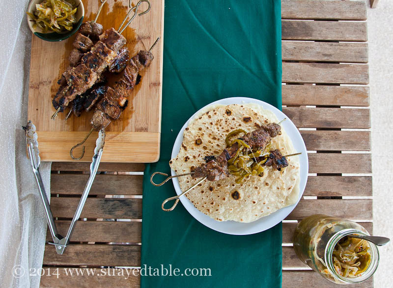 Beef Skewers with Green Chili Jam Recipe