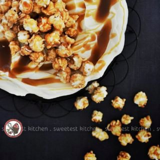 Easy Chocolate Cake with Caramel Popcorn