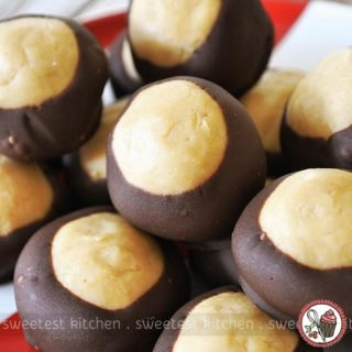 Chocolate-Coated Peanut Butter Truffles (Buckeyes)