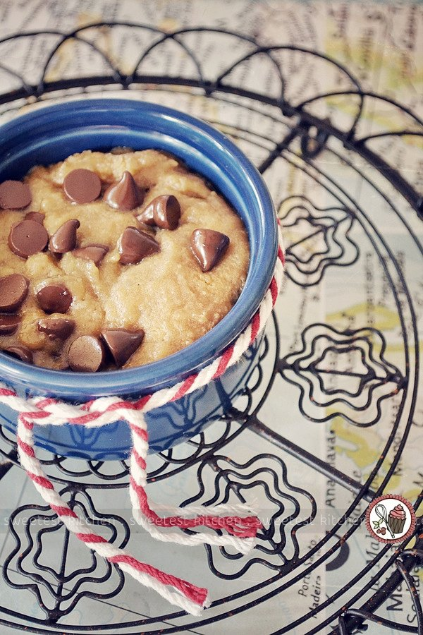 Microwave Chocolate Chip Cookie In A Mug