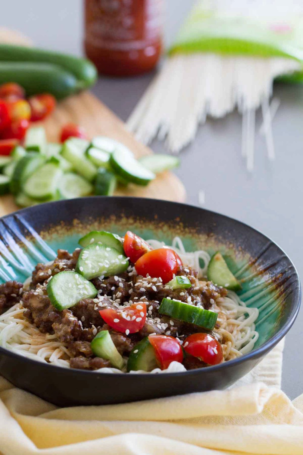 Spicy Pork Noodle Bowl