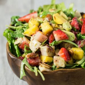 Paleo Strawberry Mango Salad with Chicken